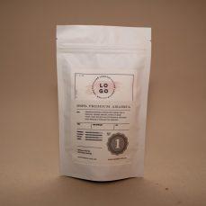 Bela vrečka - zgornji del etikete