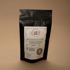 Črna vrečka - zgornji del etikete